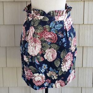 Miss Patina high-waisted floral paperbag skirt M